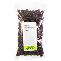 2458 Whole Dried Cranberries 500g