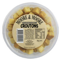 250 Moore & Moore Croutons Cheese & Bacon 80g