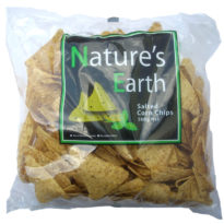 889  Nature's Earth Corn Chips Salted 500g
