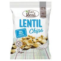 Eat Real Lentil Chips Sea Salt 40g