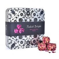 Truede Turkish Delight Rose with Rose Petals Tin 250g