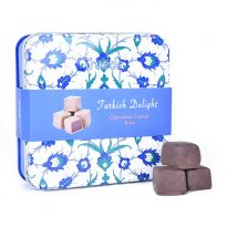 Truede Turklish Delight Chocolate coated Rose Tin 125g